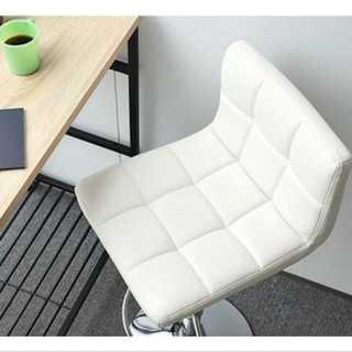 ホワイト/カウンターチェア/椅子/高さ調整可能/ハイチェア/カフェ/レザー(ペインターパンツ)