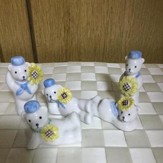 クマの箸置き インテリア 置物(テーブル用品)
