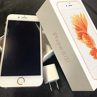 アイフォーン(iPhone)のiPhone 6s 32G Rose SIMフリー(スマートフォン本体)