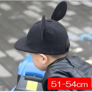 黒★子供 51-54cm 耳付き 帽子 フェルト ミッキー風 キャップ(帽子)