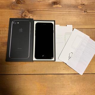 アイフォーン(iPhone)の【 SIMフリー 】 iPhone7 Jet Black 128GB(スマートフォン本体)