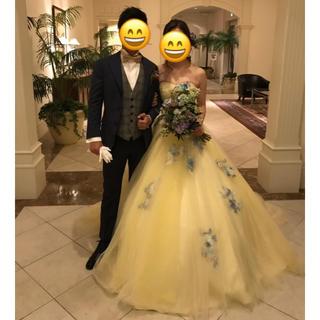 ヴェラウォン(Vera Wang)のハーディーエイミス  イエローヴィオラル カラードレス(ウェディングドレス)