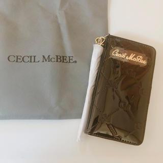 CECIL McBEE - 手帳型iPhoneケース ブラック