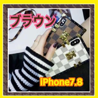 ⭐️年末SALE⭐️【トランク型iPhone7.8】ストラップ付き ブラウン