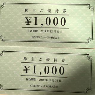 日本ビューホテル 株主優待(宿泊券)