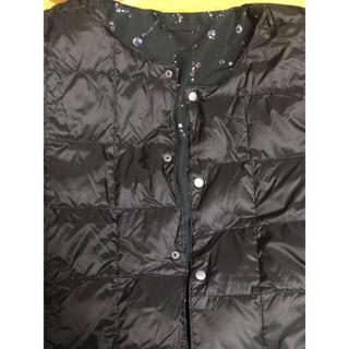 グラニフ(Design Tshirts Store graniph)のグラニフ インナー ダウン ジャケット ( ビューティフル シャドー パターン)(ダッフルコート)
