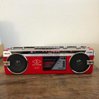 シャープ(SHARP)のジャンク ラジカセ レトロ SHARP QT-S7(ラジオ)