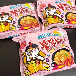 プルダックポックンミョン カルボナーラ 3袋(インスタント食品)