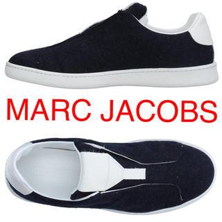 マークジェイコブス(MARC JACOBS)の新品8万程 マークジェイコブス レザー ウール スニーカー スリッポン MARC(スニーカー)