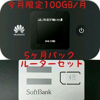 超大容量100GB  モバイルルーターセット