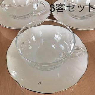 タチキチ(たち吉)のAdam&Eve  カップ&ソーサー  3客(グラス/カップ)