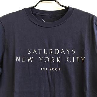サタデーズサーフニューヨークシティー(SATURDAYS SURF NYC)の美品 送料無料 ヴィンテージ SATURDAY SURF Tシャツ ネイビー(Tシャツ/カットソー(半袖/袖なし))