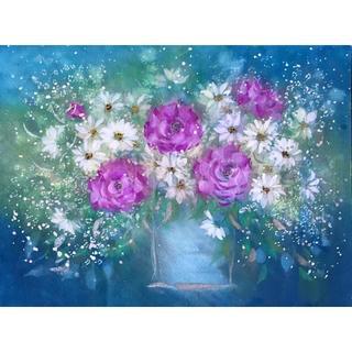 手書き作品 「Fantasy flowers」 (F4)(絵画/タペストリー)