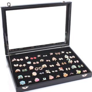 新品★リングケース 指輪 ベロア調  ピアスケース 100個 71(ケース/ボックス)
