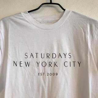 サタデーズサーフニューヨークシティー(SATURDAYS SURF NYC)の美品 送料無料 ヴィンテージ SATURDAY SURF Tシャツ ホワイト(Tシャツ/カットソー(半袖/袖なし))