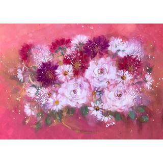 手書き作品 「Lovely  rose」 (F4)(絵画/タペストリー)