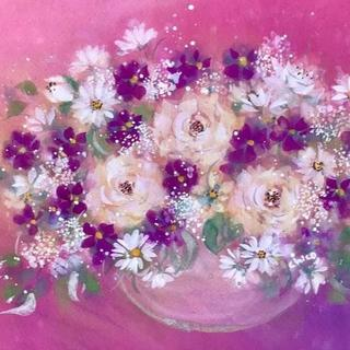 手書き作品 「Lovely flowers」(F4)(絵画/タペストリー)