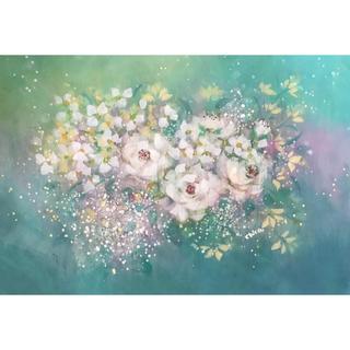 手書き作品 「White flower」(B4)(絵画/タペストリー)
