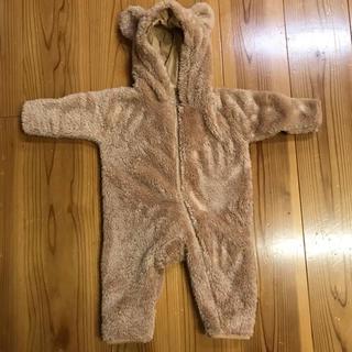 ディズニー(Disney)のくま もこもこ ダッフィ シェリーメイ 着ぐるみ コスプレ 防寒 パジャマ 80(カバーオール)
