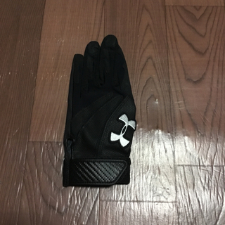 アンダーアーマー(UNDER ARMOUR)のアンダーアーマー バッティング 手袋 MD 左手 ブラック ブラック グローブ(グローブ)