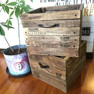 木箱 2個セット(ケース/ボックス)