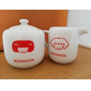 レトロ 昭和のシュガーポット&ミルクポット ペチャクチャ(テーブル用品)