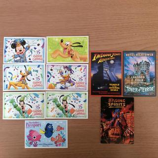 ディズニー(Disney)の【TDR】使用済パスポート7枚&使用済チャレンジャー証明書3枚(遊園地/テーマパーク)