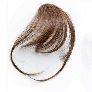 前髪ウィッグ100%人毛 サイドあり ライトブラウン人毛100% 総手植え(前髪ウィッグ)