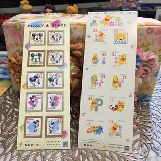 Disney - ミキミニ プーさん切手