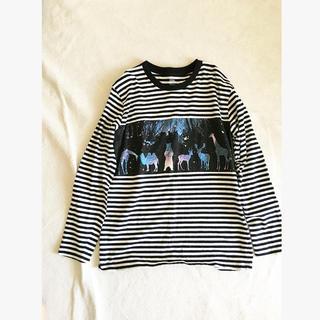 グラニフ(Design Tshirts Store graniph)のグラニフ 動物 ボーダー*ユニクロ 無印良品 ビームス ニコアンド coen(Tシャツ(長袖/七分))