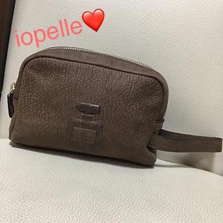 パピヨネ(PAPILLONNER)の✨パピヨネ iopelle イオペレ ポーチ ✨1番人気✨香水瓶 型押 タイプ✨(ポーチ)