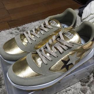 ゴールデングース(GOLDEN GOOSE)の2star スニーカー 41(26〜26.5cm) ゴールド(スニーカー)