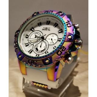 インビクタ(INVICTA)のInvicta 50mm スピードウェイ クロノ ホワイトMOP&レインボー☆(腕時計(アナログ))