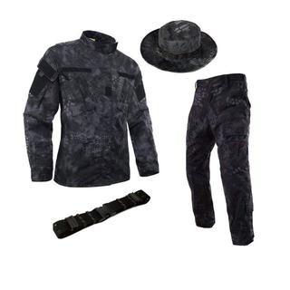 サバゲー 迷彩服 上下 ハット ベルト 3点セット 最新の蜂の巣デザイン (戦闘服)