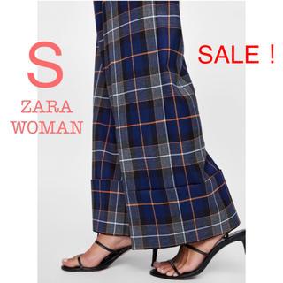 ZARA - SALE!新品未使用 ZARA WOMAN チェック ハイウエスト ワイドパンツ