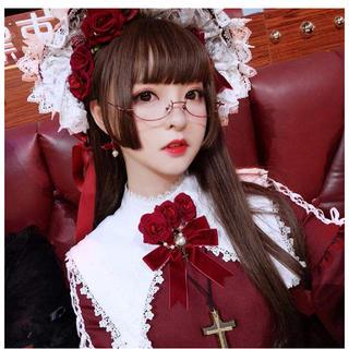 ロング ストレートフルウィッグ 黒髪 茶褐色髪 姫髪 姫カット(ウィッグ)