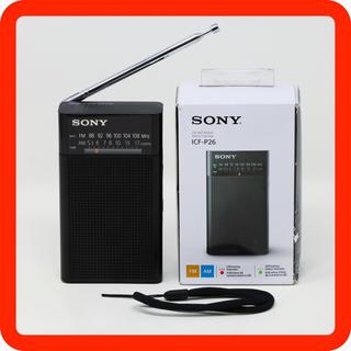 ソニー(SONY)の◆SONY ポータブルラジオ ICF-P26 ワイドFM 受信可 並行輸入品(ラジオ)