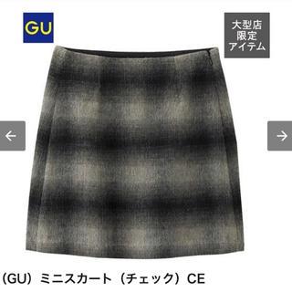 ジーユー(GU)のGU チェック柄ミニスカート(ミニスカート)