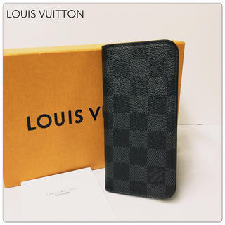 ルイヴィトン(LOUIS VUITTON)の【美品】LOUIS VUITTON ダミエ グラフィット iPhone8 ケース(iPhoneケース)