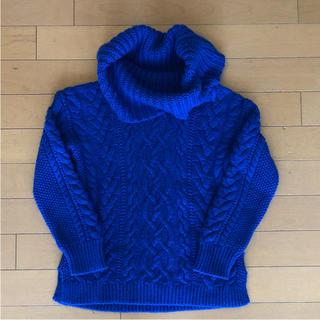 ラルフローレン(Ralph Lauren)のラルフローレン ガールズアランニット ロイヤルブルー 130(ニット)