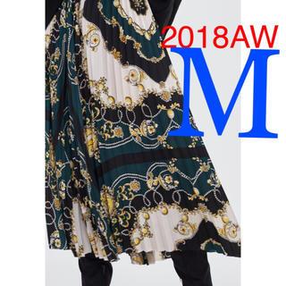 ZARA - *2018AW*ZARA スカーフ柄 プリーツ スカート
