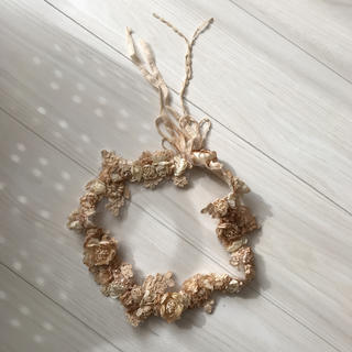 花かんむり アンティーク ヴィンテージ ウェディング(ヘッドドレス/ドレス)