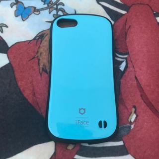 アイフォーン(iPhone)のiFace 水色(iPhoneケース)