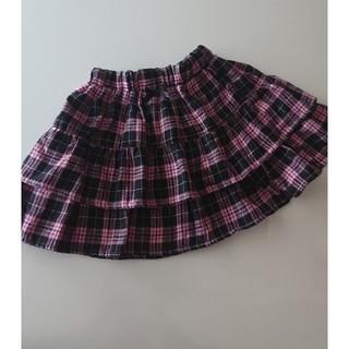 シマムラ(しまむら)の女の子130秋冬ピンクチェックスカート(スカート)