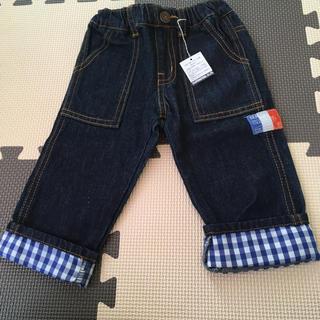 エフオーキッズ(F.O.KIDS)の新品タグ付き☆チェック デニムパンツ 80cm(パンツ)