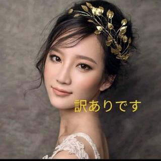 ヘッドドレス GOLDリーフ(ヘッドドレス/ドレス)