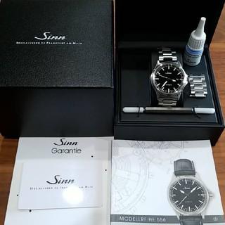 シン(SINN)の★sinn556★極美品 保証あり 自動巻 裏スケルトン ssブレス 38 ジン(腕時計(アナログ))