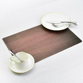 2枚セット 木目 ランチョンマット(テーブル用品)