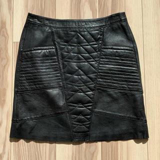 ザディグエヴォルテール(Zadig&Voltaire)の【未使用】ザディグエヴォルテール ラム レザー ミニ スカート XS(ミニスカート)