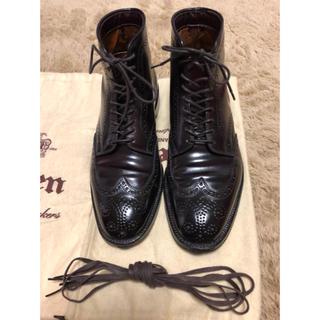 オールデン(Alden)のオールデン コードバン ウイングチップブーツ レザーソウル別注(ブーツ)